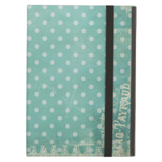 Vintage Patterned Turquoise Wallpaper iPad Air Cover