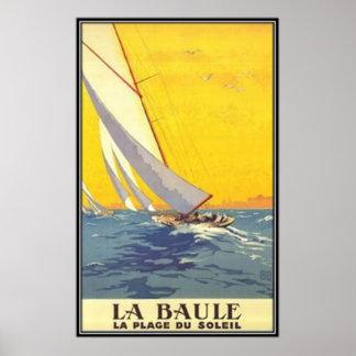 Vintage Pays de la Loire La Baule France - Posters