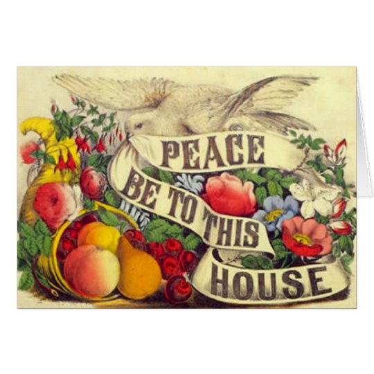 """Vintage """"Peace Be To This House"""" - Card"""