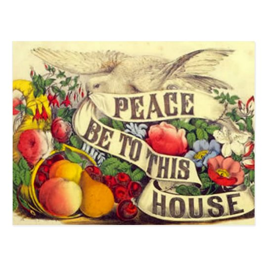 """Vintage """"Peace Be To This House"""" - Postcard"""