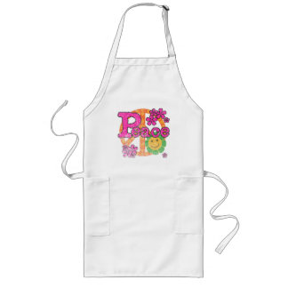 Vintage Peace Long Apron
