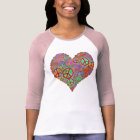 Vintage Peace Love Heart T-Shirt