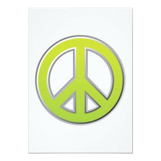 Vintage | Peace Sign 13 Cm X 18 Cm Invitation Card