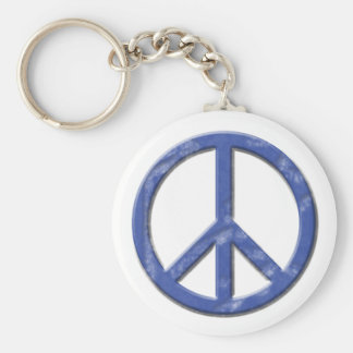 Vintage Peace Sign Basic Round Button Key Ring