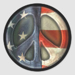 Vintage Peace sign Round Sticker