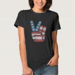 Vintage Peace Sign USA Dark T-Shirt