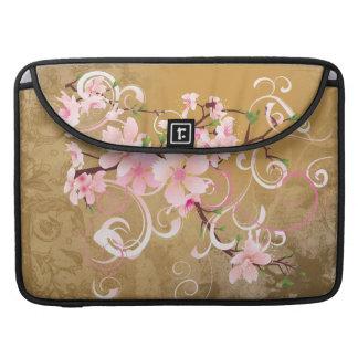 Vintage Peach Blossoms Rickshaw Flap Sleeve Sleeves For MacBook Pro