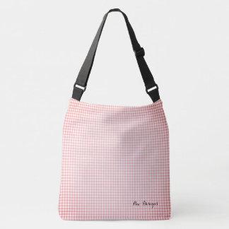 Vintage_Peach__Gingham_ Crossbody Bag