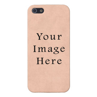 Vintage Peach Pink Parchment Paper Background iPhone 5/5S Cover