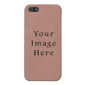 Vintage Peach Pink Red Parchment Paper Background iPhone 5/5S Case