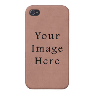 Vintage Peach Pink Red Parchment Paper Background iPhone 4 Cases