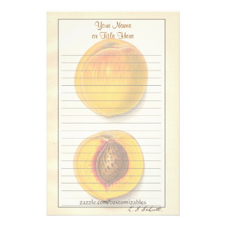 Vintage Peaches Stationery