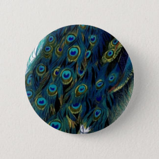 Vintage Peacock 6 Cm Round Badge