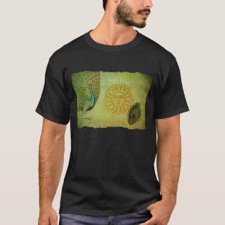 Vintage Peacock Art Collage T-Shirt
