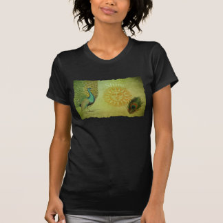 Vintage Peacock Art Collage Tee Shirts