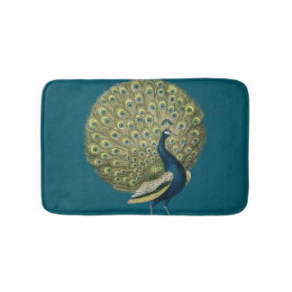 Vintage Peacock Bath Mat