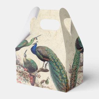 Vintage Peacock Birds Wildlife Animals Favor Box Favour Box