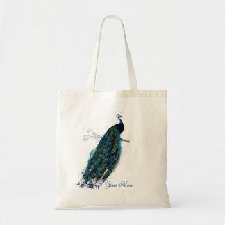 Vintage Peacock Budget Tote Bag