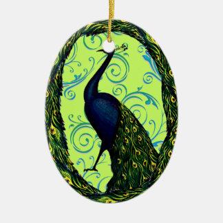 Vintage Peacock Christmas Ornament