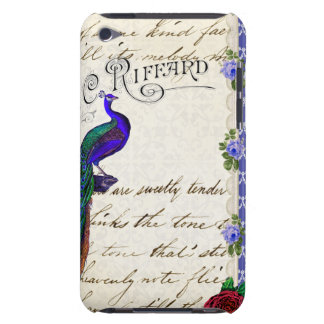Vintage Peacock Collage ipod touch case