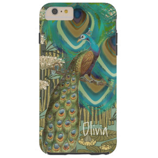 Vintage Peacock Dragonflies and Lilypads Tough iPhone 6 Plus Case
