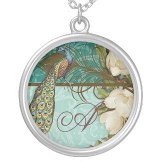 Vintage Peacock & Etchings Bride's Necklace