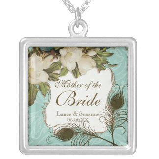 Vintage Peacock & Etchings Mother of the Bride Necklace