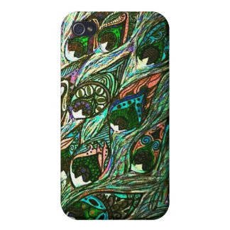 vintage peacock feather iphone case iPhone 4 case