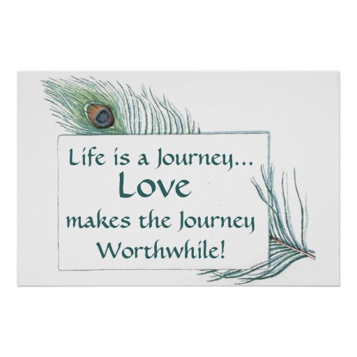 Vintage Peacock Feather Life Journey Love Posters