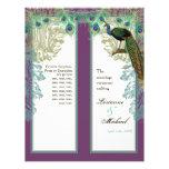 Vintage Peacock, Feathers - Wedding Program Flyers