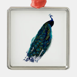 Vintage Peacock Image Christmas Ornament