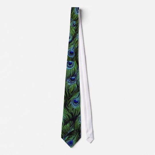 Vintage Peacock Men's Wedding Tie