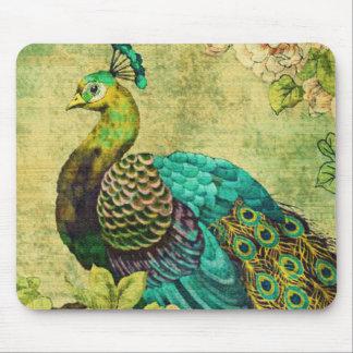 Vintage peacock Mousepad