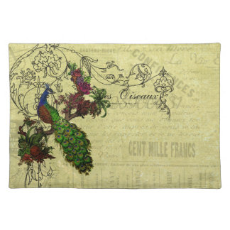Vintage Peacock on Branch Apparel and Gifts Placemat