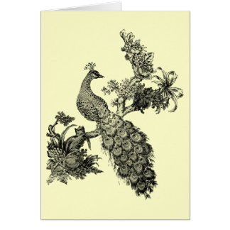 Vintage Peacock on Branch T-shirts and Gifts Card