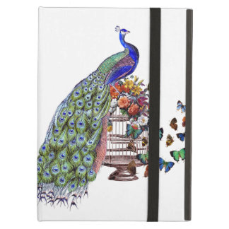 Vintage Peacock on cage Cover For iPad Air