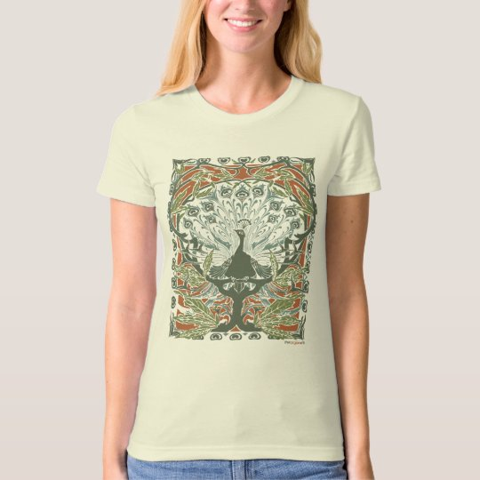 Vintage Peacock Organic Cotton T-Shirt