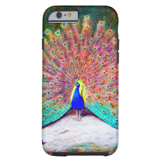 Vintage Peacock Painting Tough iPhone 6 Case