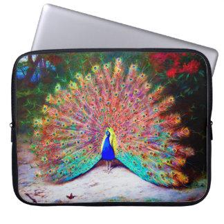 Vintage Peacock Painting Laptop Sleeve