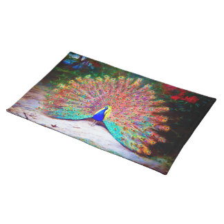 Vintage Peacock Painting Placemat