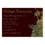 Vintage Peacock Paisleys Swirl Design Business Card Templates
