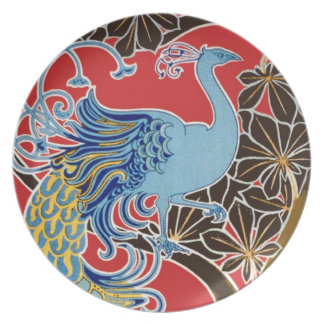 Vintage Peacock pattern Plates