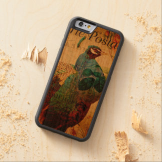 Vintage Peacock Postcard Carved Cherry iPhone 6 Bumper Case