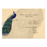 Vintage Peacock Reply Cards with Menu Options Custom Invites
