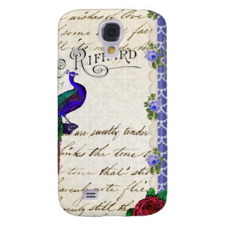Vintage Peacock Song Collage Galaxy S4 Case