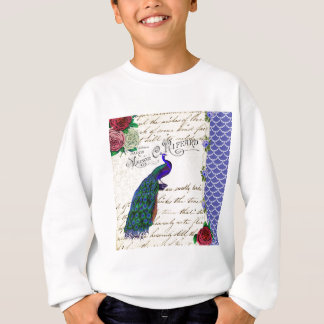 Vintage Peacock Song Collage Sweatshirt