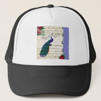 Vintage Peacock Song Collage Trucker Hat