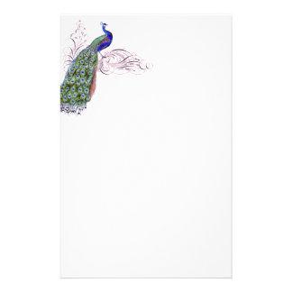 Vintage Peacock Stationery