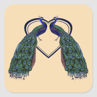 Vintage Peacock Stickers or Envelope Seals