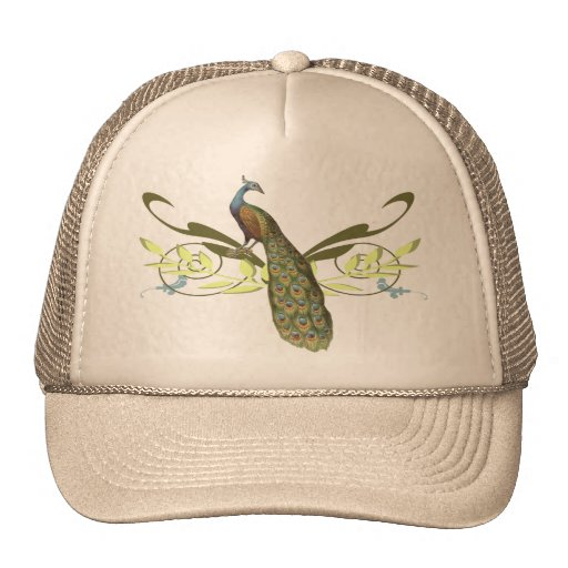 Vintage Peacock Trucker Hats